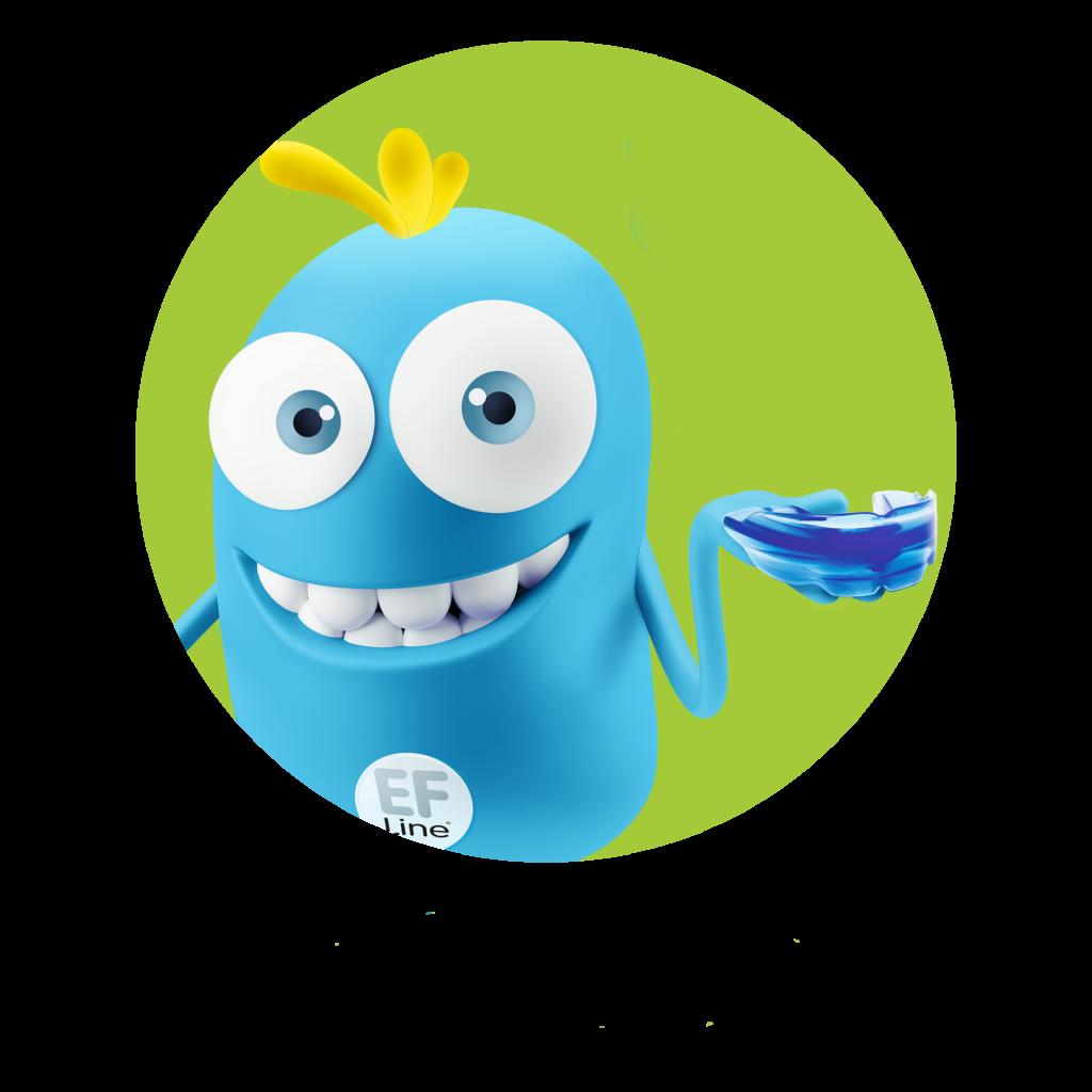 Logo bulle sourit, gouttière dans la main
