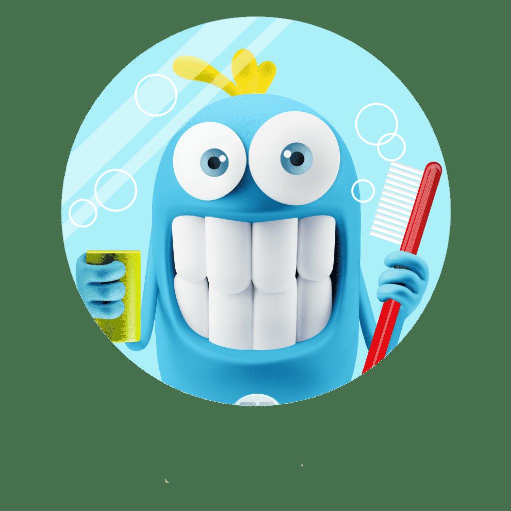 Logo Bulle se broche les dents